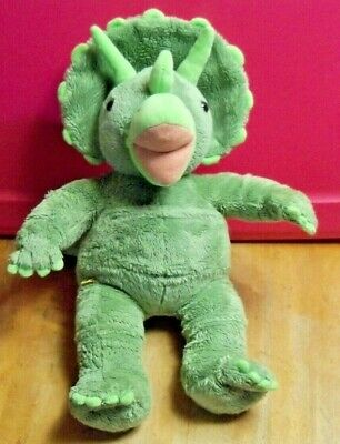 "BUILD A BEAR BABW Green Dinosaur Triceratops ~ 16"" Tall"