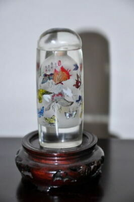 RARE & NICE Chinese Antique Inside Painting Snuff Bottle