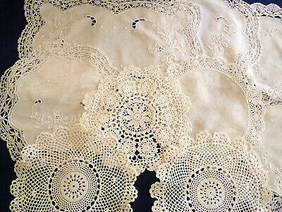 LOT of 11 Assorted VINTAGE DOILIES in Classic White