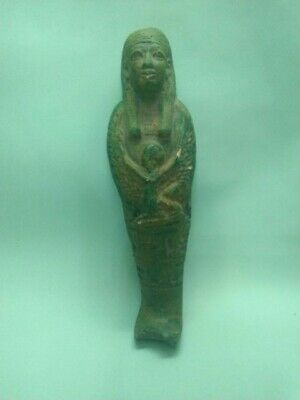 RARE ANCIENT EGYPTIAN ISIS USHABTI ANTIQUE Shabti 1758-1452 BC
