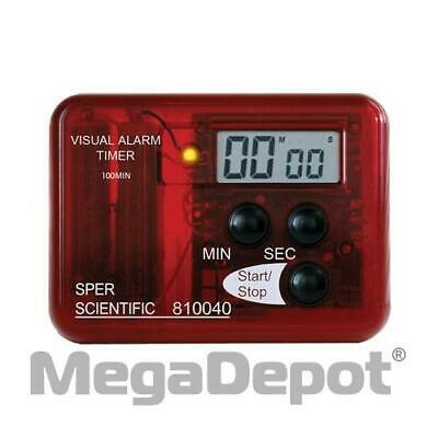 Sper Scientific 810040, Visual Alarm Red Timer 99 Minutes