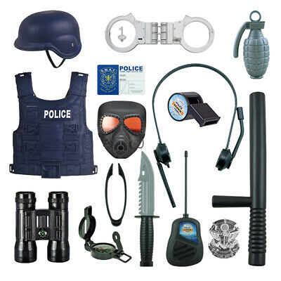 Police Role Play Kit By Funky Toys15-Piece Cop Toy SetGun Badge Handcuffs