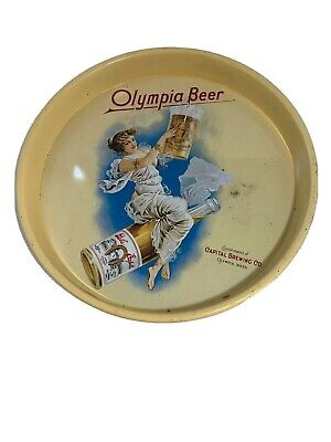"""Olympia Beer (Capital Brewing Co. Washington, USA) 13"""" Metal Serving Tray Promo"""