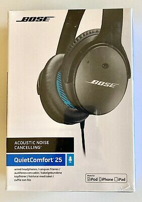 New Bose QuietComfort 25 Noise Cancelling Headphones Apple Devices Black Wired