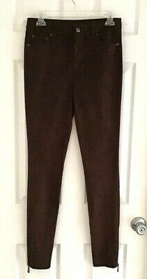 Bagatelle Womens Leggings Size Small Brown Suede Stretch Moto Soft Zip Ankle New