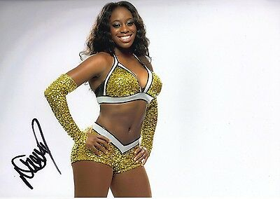 Naomi Signed 12X8 Photo WWE WWF UFC Genuine Signature AFTAL COA (7130)