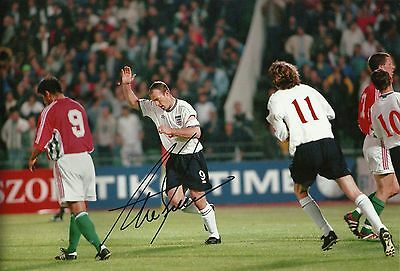 Alan Shearer Signed 12X8 Photo GENUINE England Newcastle AFTAL COA (1619)