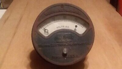 Antique Weston A. C. Voltmeter, Newark N.j. U.s.a. 1890'S & 1913 Patent Dates