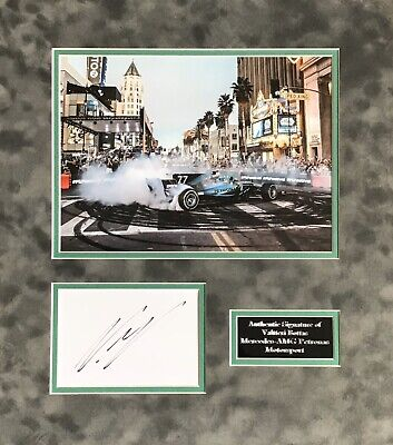 Valtteri Bottas Authentic Signed F1 Mounted Display Aftal#198