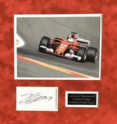 Charles Leclerc Authentic Signed F1 Mounted Display Aftal#198