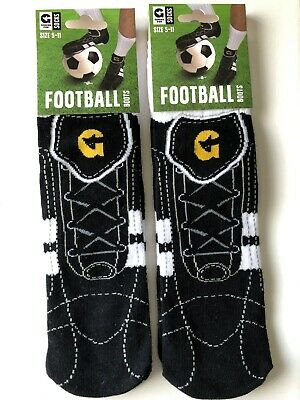 2 Pairs FOOTBALL SOCKS Mens Youths Ladies Girls Size 5 - 11 Novelty Design R50