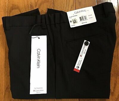 Calvin Klein X Slim Fit Stretch Suit Separates Pants Men's 36x32 Black $125