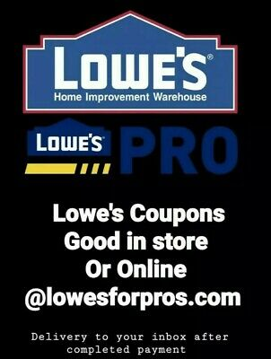 3x LOWES 20 OFF 100 Promo CouponCode ONLINE @lowesforpros inbox