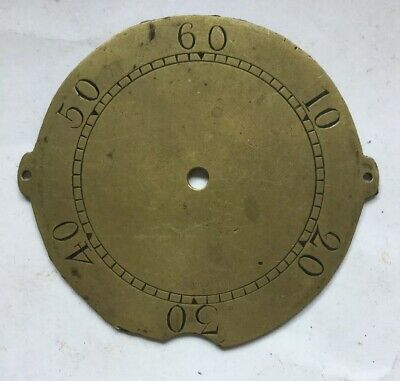 Antique Brass Long Case Seconds Chapter Ring .C1780 For Fitting Behind Dial
