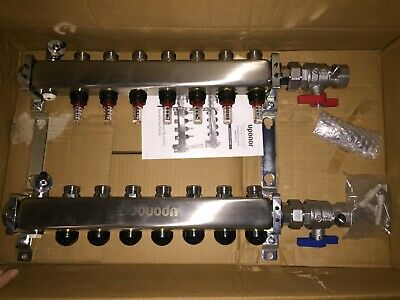 Uponor Stainless Steel Manifold Assembly with Ball Valves 7-loop A2720702