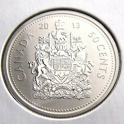 2013 Specimen Canada 50 Cents Half Dollar Uncirculated Canadian Coin RCM P040
