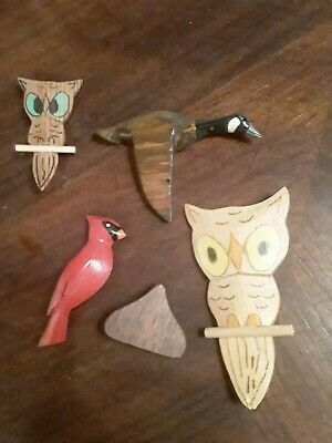 Jack Messenger The Vagabond Whittler Jgm Carved Pieces Owl Duck Cardinal Pins