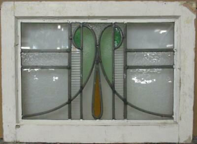 "OLD ENGLISH LEADED STAINED GLASS WINDOW Stunning Abstract Sweep 20.75"" x 15.25"""