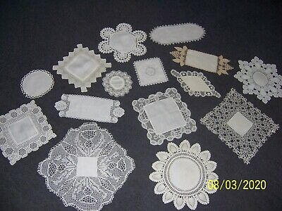 15 Beautiful Vintage Lace Doilies ~ With Linen Centres ~