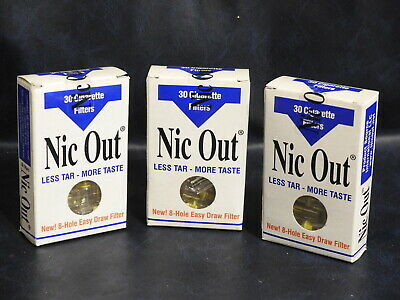NIC OUT Cigarette Smoking 90 (3-Pack) Filters/Holders Cut the Tar