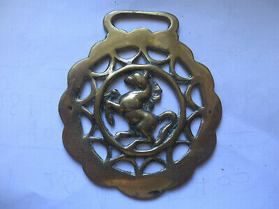 LEAPING or STANDING HORSE OLD HORSE BRASS BRITISH MADE by PEERAGE c1930