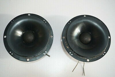 """Pair of Wigo 5"""" 8 Ohm 5173 Dome Mid-High-Range Speaker ø 37mm Made in GERMANY"""