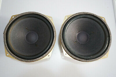 """Pair of Wigo 1074 8"""" 8 Ohm Woofer Speaker Drivers Vintage Made in GERMANY"""