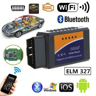 ELM327 OBDII OBD2 WiFi Car Engine Diagnostic Code Reader Scan IPhone ANDROID NB