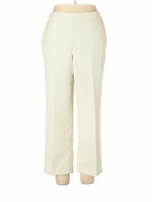 Alfred Dunner Women Ivory Casual Pants 14 Petites