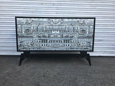 Vintage Chest Drawers Credenza Original Fornasetti Design Embellished 1950s 60s