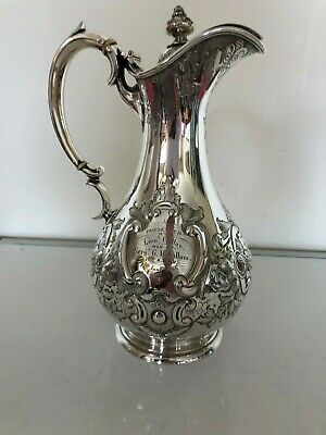 Stunning Victorian Highly Embossed Silver Plated Claret Jug (Super Item)