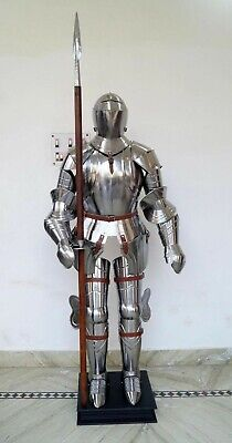 Handmade Medieval Knights Sca Larp Warrior Reenactment Full Body Suit Of Armor