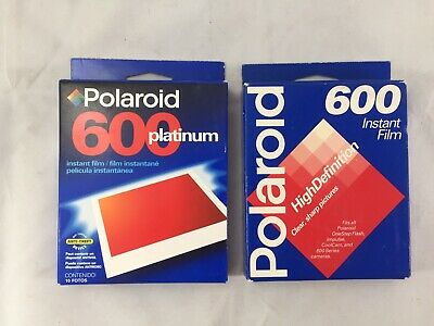 Lot 2 Polaroid Platinum 600 Instant Film 10 Photos A Pack Exp 1997 & 2001 Sealed
