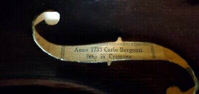 Antigue Violin Anno 1733 Carlo Bergenzi fece in cremona FSF 2-16-Louis