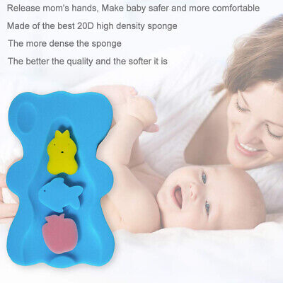 EB_ Bath Sponge Support Safety Aid Bathing Mat Foam Non Slip Cushion for Baby In