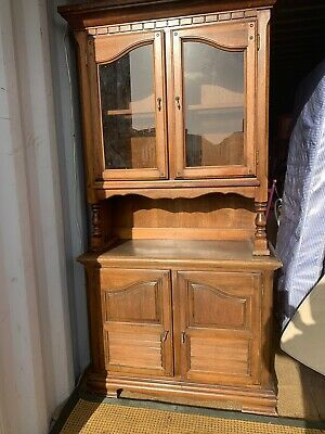 Modern Solid Oak Welsh Dresser / Kitchen Cupboard With Drawers And Shelves