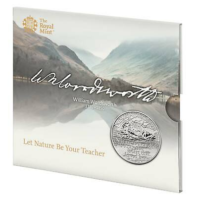 2020 William Wordsworth 250th Anniversary £5 Coin in Royal Mint Sealed Pack