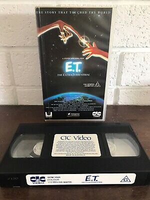 ET The Extra Terrestrial STEVEN SPIELBERG VHS VIDEO PAL Rare 1982 Movie