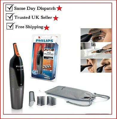 New NT3160 Nose Ear Eyebrow Hair Trimmer Shaver Washable No Pulling No Cut