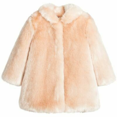 Hucklebones London Girls Pale Pink Synthetic Fur Coat 3 Years