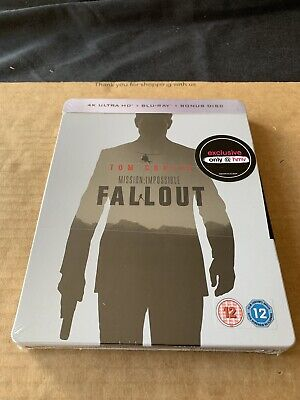 Mission Impossible Fallout 4K Blu ray 3 Disc Steelbook NEW & SEALED Tom Cruise