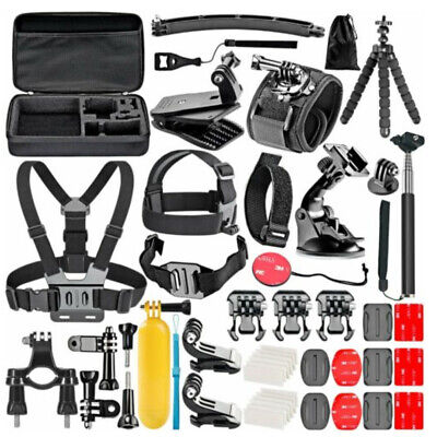 50 In 1 ACCESSORIES KIT For GOPRO 7 6 5 4 Outdoor Action Sports Camera Mount Set