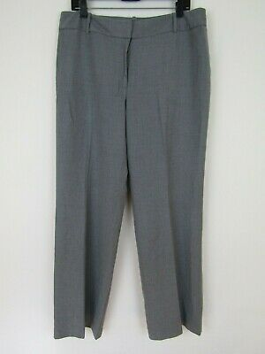 Ann Taylor Signature Fit Womens Just Below the Waist Poly Blend Gray Pants sz 12