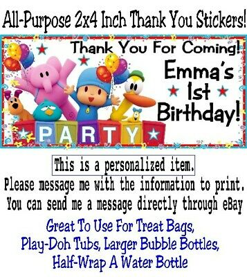20 The Incredibles Birthday Party Baby Shower 2x4 Treat Bag Thank You Stickers