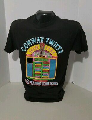 Vintage 1982 Conway Twitty He's Playing Your Song Jukebox Single Stitch Shirt M