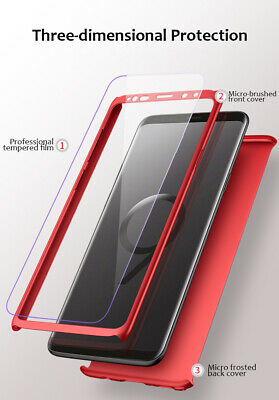 For Samsung S8 S9 S10 S10E Case Luxury 360 Hard Shockproof Case+Screen Protector
