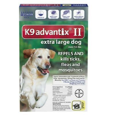K9 Advantix II for Extra Large Dog Over 55 lbs - 6 Pack (US EPA Approved) NEW