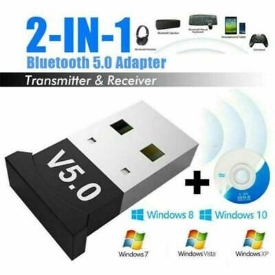 Bluetooth CSR 5.0 USB Dongle Adapter for PC's and Laptops Windows 7 / 8 / 10