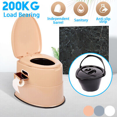Portable Toilet Camping Flush Travel Vehicle Potty Indoor Outdoor Load 200KG US