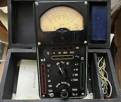 "Vintage  Sensitive Analyzer Voltmeter ""TT-1"" USSR 1958"